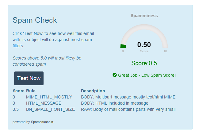 Boingnet Spam Checker - Email Deliverability